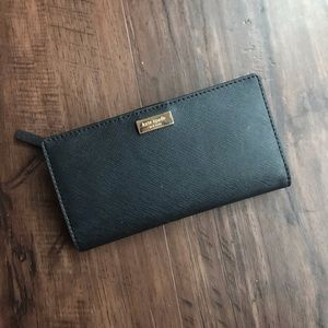 Kate Spade Black Saffiano Leather Wallet